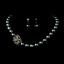 Elegance by Carbonneau NE-1023-Hematite Necklace Earring Set 1023 Hematite
