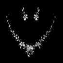 Elegance by Carbonneau NE-1271-Silver-Clear Silver Clear Cubic Zirconia Necklace Earring Set 1271