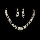 Elegance by Carbonneau NE-150-goldivory Necklace Earring Set NE 150 Gold Ivory
