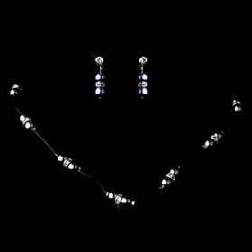 Elegance by Carbonneau NE-206-Purple-PassioN Necklace Earring Set 206 Purple Passion