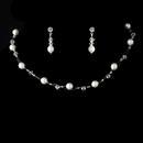 Elegance by Carbonneau NE-207-White Illusion Bridal Necklace Earring Set 207 White