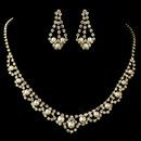 Elegance by Carbonneau NE-224-G-IV Gold Ivory Pearl & Rhinestone Jewelry Set