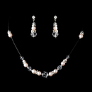 Elegance by Carbonneau NE-230-Pink-Clear Necklace Earring Set 230 Pink Clear