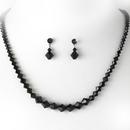 Elegance by Carbonneau NE-231-black Necklace Earring Set NE 231 Black