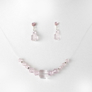 Elegance by Carbonneau NE-233-pink Necklace Earring Set 233 Pink