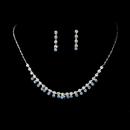 Elegance by Carbonneau NE-3108-Silver-Lt-Blue Neckace Earring Set NE 3108 Silver Lt Blue