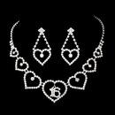 Elegance by Carbonneau NE-460-Silver-Clear-16 Matching Sweet 16 Rhinestone Necklace Earring Jewelry Set NE 460 Silver
