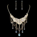 Elegance by Carbonneau NE-6507-G-AB Gold AB & Light Topaz Crystal Jewelry Set 6507