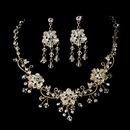 Elegance by Carbonneau NE-6522-G Stunning Swarovski Crystal Jewelry Set NE 6522 Gold