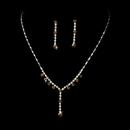 Elegance by Carbonneau NE-7157-GoldBrown Necklace Earring Set NE 7157 Gold Brown