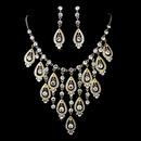 Elegance by Carbonneau NE-71990-Gold Gold Clear Necklace Earring Set 71990