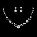Elegance by Carbonneau NE-7203-S-Clear Necklace Earring Set NE 7203 Silver Clear