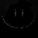 Elegance by Carbonneau NE-7220-Silver-GarNEt Silver Garnet Necklace Earring 7220