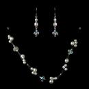 Elegance by Carbonneau NE-7239-White Silver White Necklace Earring Set 7239