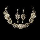 Elegance by Carbonneau NE-7844-GoldIvory Necklace Earring Set NE 7844 Gold Ivory