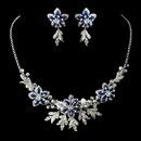 Elegance by Carbonneau NE-8100-Royal-Blue Stunning Royal Blue Jewelry Set NE 8100