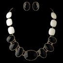 Elegance by Carbonneau Gold Black Faceted Bead Tribal Fashion Necklace & Earrings Jewelry Set 8160
