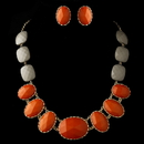 Elegance by Carbonneau Gold Orange Faceted Bead Tribal Fashion Necklace & Earrings Jewelry Set 8160