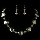 Elegance by Carbonneau NE-82025-G-Olive Gold Olive Green Rondelle Crystal Fashion Jewelry Set 82025