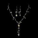 Elegance by Carbonneau NE-8258-Silver-AB Swarovski Bridal Jewelry Set NE 8258 Silver AB