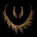 Elegance by Carbonneau NE-8278-goldtopaz Necklace Earring Set NE 8278 Gold Topaz