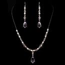 Elegance by Carbonneau NE-8354-Pink Necklace Earring Set NE 8354 Pink