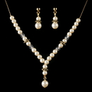 Elegance by Carbonneau NE-C-8442-Gold-Ivory Children's Necklace Earring Set8442 Gold Ivory