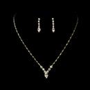 Elegance by Carbonneau NE-307-Gold-Clear Beautiful Gold Crystal Bridal Jewelry Set NE 307