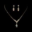 Elegance by Carbonneau NE344-g-ab Gold and AB Necklace Set NE 344