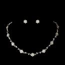 Elegance by Carbonneau NE384slvclr Silver Clear Floral Rhinestone Necklace & Earring Set NE 384