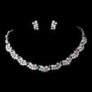 Elegance by Carbonneau NE-395-Silver-AB Gorgeous Silver AB Wedding Jewelry Set NE 395