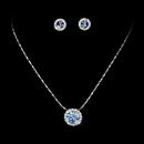 Elegance by Carbonneau NE71576ltblue Simple Light Blue Pendant Jewelry Set NE 71576