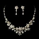 Elegance by Carbonneau NE8001-goldivory Beautiful Gold Ivory Pearl Bridal Jewelry Set NE 8001