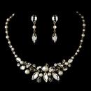 Elegance by Carbonneau NE8234-GoldIvory Gold Pearl Bridal Jewelry Set NE 8234