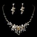 Elegance by Carbonneau NE8237-GoldClear Gold Swarovski Necklace Earring Jewelry Set NE 8237