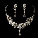Elegance by Carbonneau NE8308-goldclear Swarovski Necklace Earring Set NE 8308 Gold