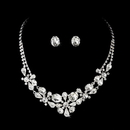Elegance by Carbonneau NE8313 Silver Crystal Jewelry Set NE 8313