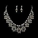 Elegance by Carbonneau NE-905-Silver-AB Vintage Dangle Jewelry Set NE 905