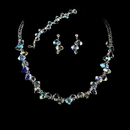 Elegance by Carbonneau NEB-8257-Silver-AB Necklace Earring Bracelet Set 8257 Silver AB