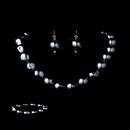 Elegance by Carbonneau NEB-8325-Hematite Necklace Earring Bracelet Set 8325 Hematite