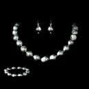 Elegance by Carbonneau NEB-8325-Silver Necklace Earring Bracelet Set 8325 Silver