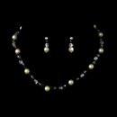 Elegance by Carbonneau NEC-7247-Ivory Ivory Child's Necklace Earring Set 7247