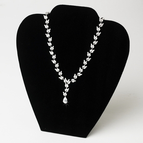 "Elegance by Carbonneau NEckFormDisplay-Vel-189 Neckace Bust Form Jewerly Display - 5"" x 3"" x 7""H"