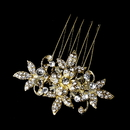 Elegance by Carbonneau Pin-1583-gold Stunning Gold Clear Rhinestone & Crystal Flower Hair Pin 1583