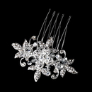 Elegance by Carbonneau Pin-1583 Stunning Silver Clear Rhinestone & Crystal Flower Hair Pin 1583