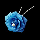 Elegance by Carbonneau Pin-900-LtBlue Light Blue Glitter Crystal Bridal Hair Pin 900