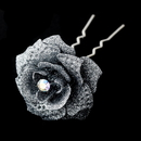 Elegance by Carbonneau Pin-900-Silver Silver Glitter Crystal Bridal Hair Pin 900