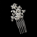 Elegance by Carbonneau Pin-904 Charming Silver Clear Crystal & Rhinestone Hair Pin 904