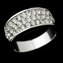Elegance by Carbonneau Ring-0033-Silver Exquisite Silver Clear Pave Crystal Band Ring 0033