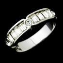Elegance by Carbonneau Ring-1183 Lovely Silver Clear Crystal Band Ring 1183